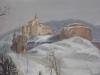 Pernštejn v zimě na obraze