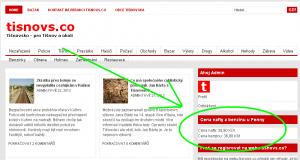 Tišnovsko - ukázka kde je umístěnen widget