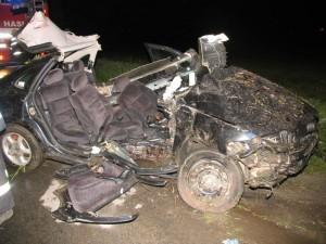 Opel Vectra po nehod+ u Tišnova