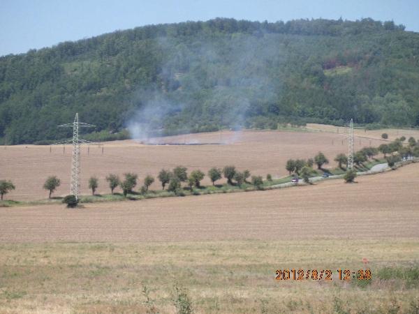 Počátek požáru nad Lomničkou