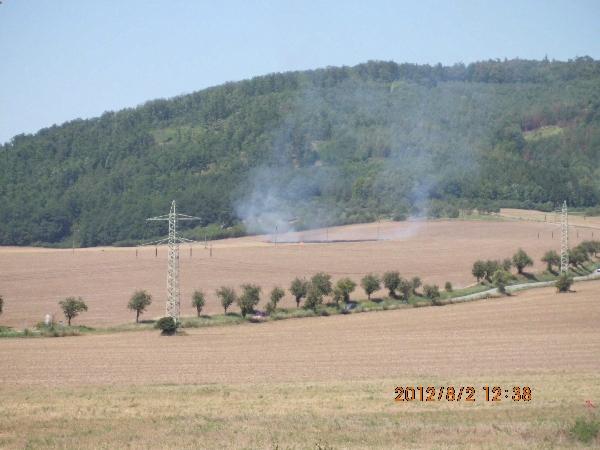 Další záběr z Lomničského požáru