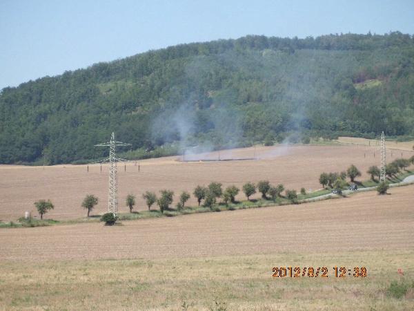 Další záběr na požár
