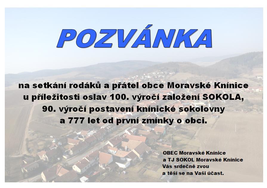 Setkání rodáků Moravské Knínice