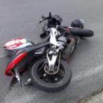 Havárie motocyklu v Lomničce