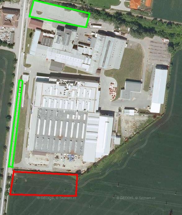 Parkoviště Siemens Drásov