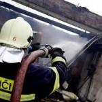 Požár domku v Malhostovicích