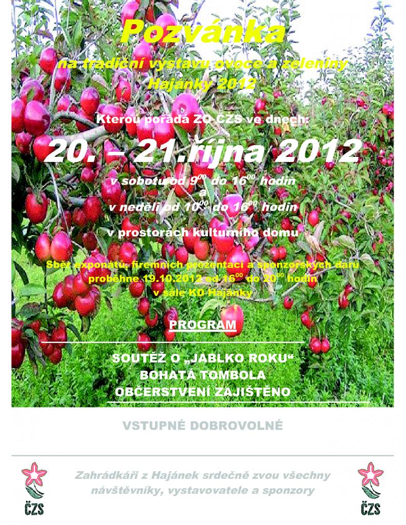 Hajánky 2012 výstava ovoce a zeleniny