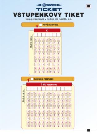 Tiket na vstupenky od SAZKY