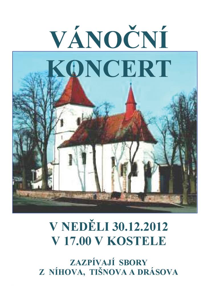Povánoční koncert v Drásově 2012