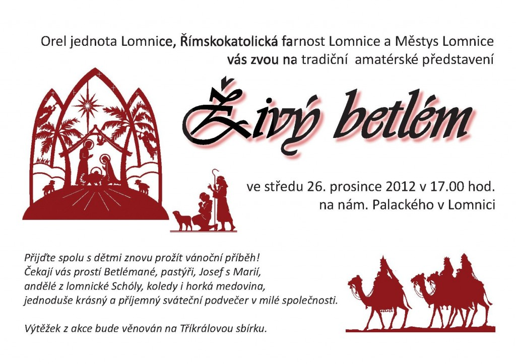 Betlém na Lomnici 2012