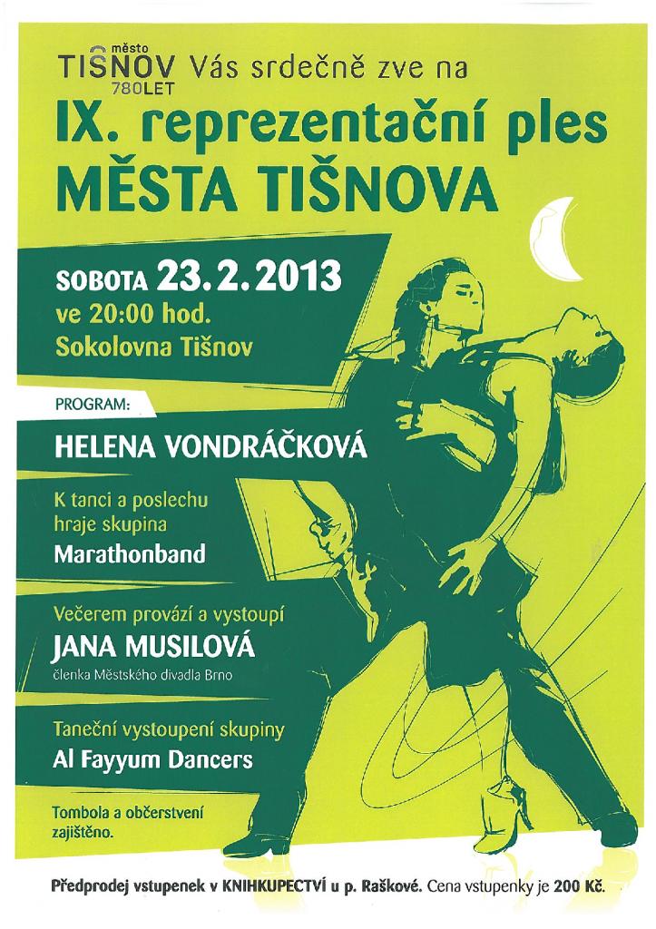 Ples v Tišnově 2013