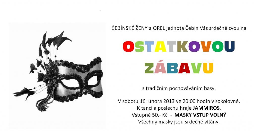 Ostatková zábava v Čebíně