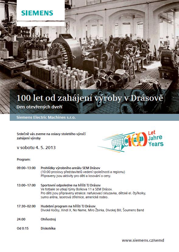 Sto let slaví Siemens v Drásově - založení výroby