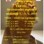 73. tišnovská mezinárodní expozice minerálů v Tišnově - 2013