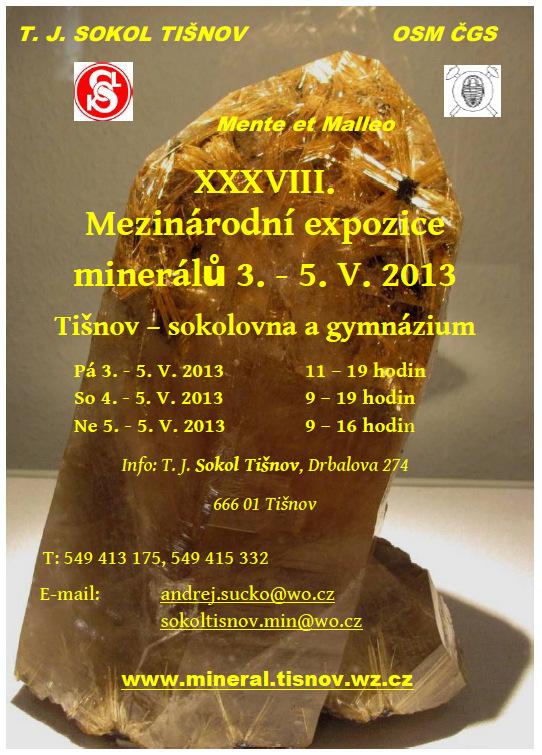 Minerály v Tišnově jaro 2013
