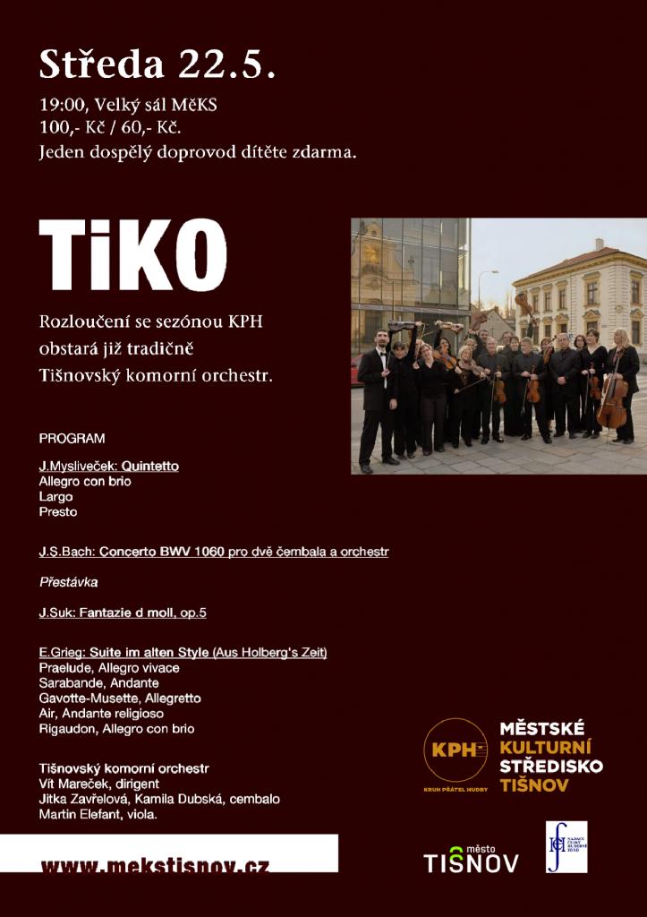 Tišnovský komorní orchestr v MěKS Tišnov
