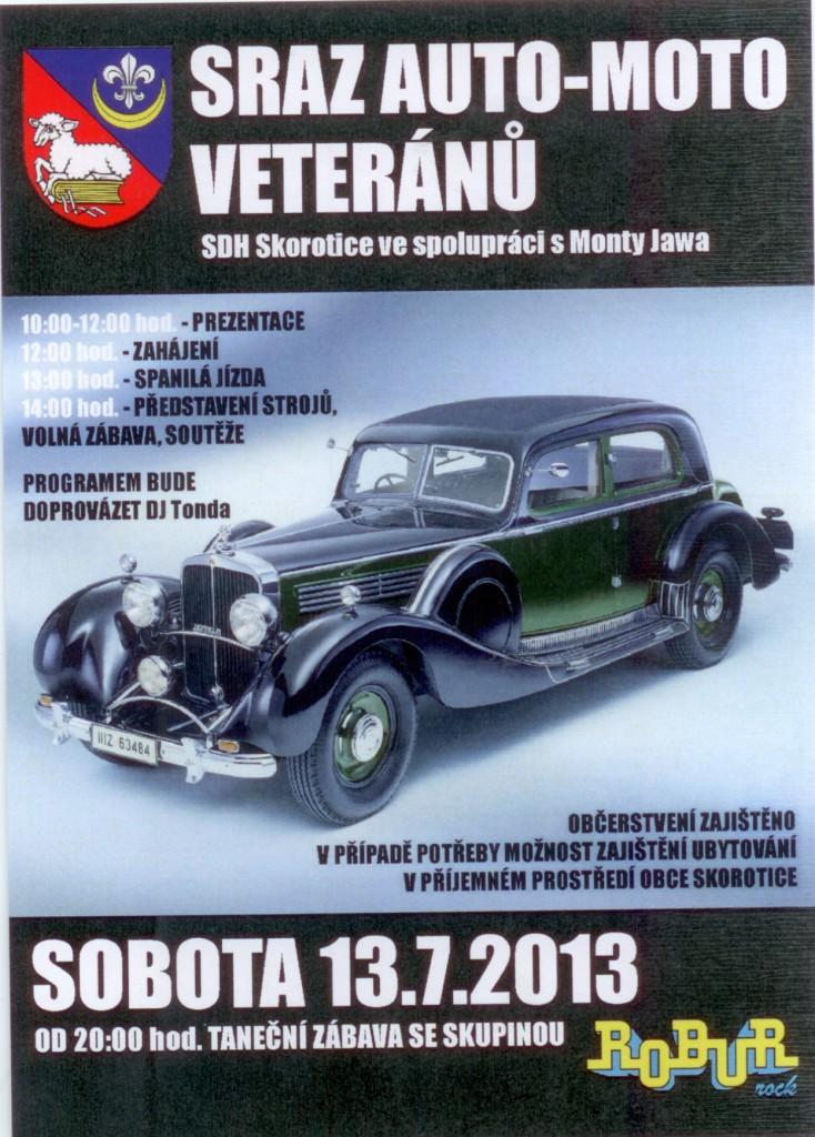 Auto veteráni - Skorotice 2013