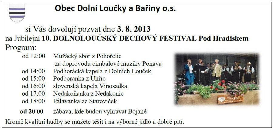Jubilejní dechový festival v Dolních Loučkách