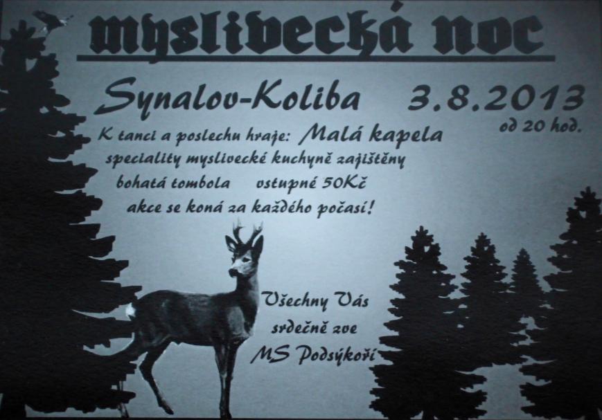 Myslivecká noc v Synalově 2013 - na Kolibě