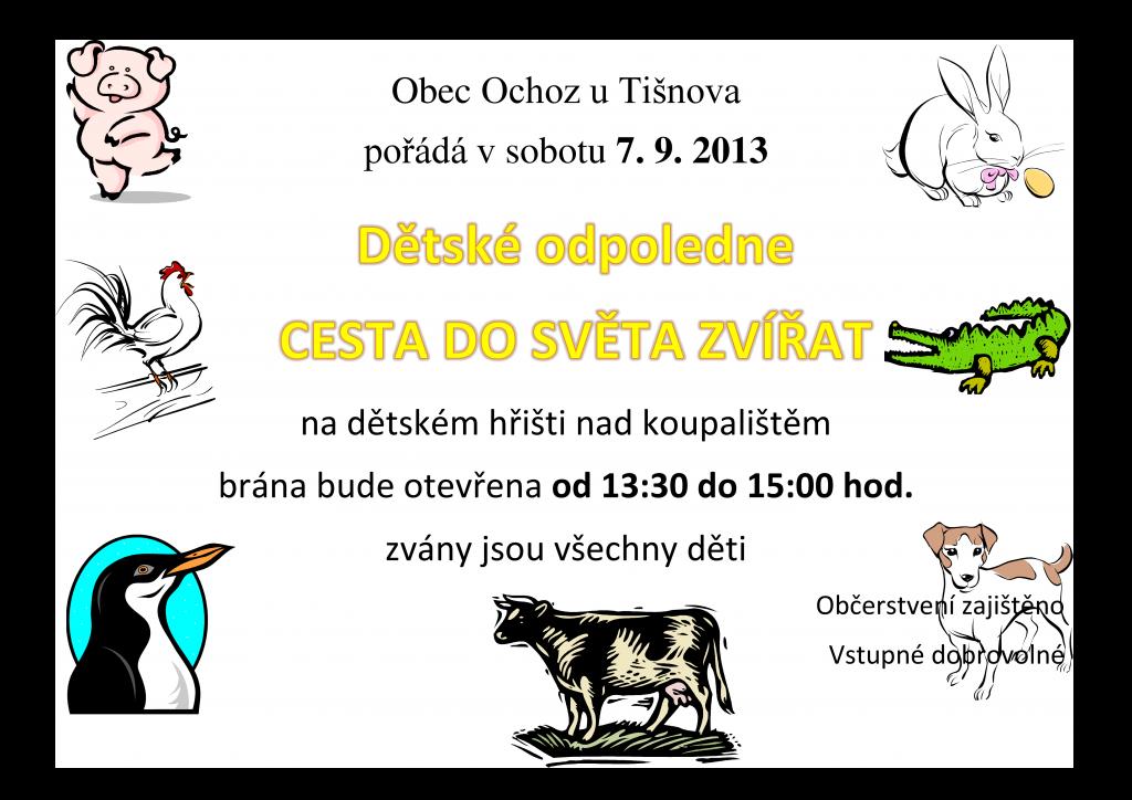 Dětský den v Ochozi u Tišnova 2013