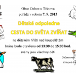 Cesta do světa zvířat v Ochozi u Tišnova