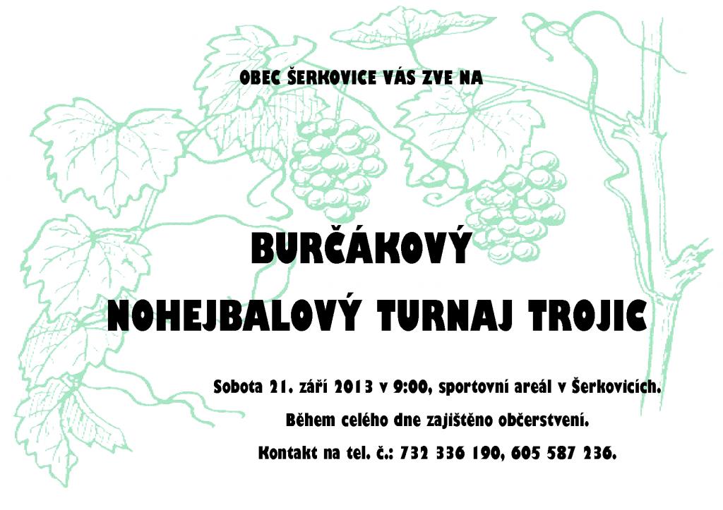 Burčákový turnaj trojic v Šerkovicích