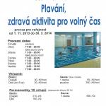 Otevírací doba bazénu na Lomnici 2013/2014