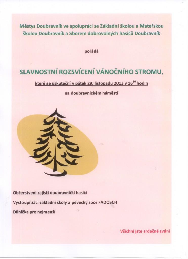 Vánoční strom Doubravník