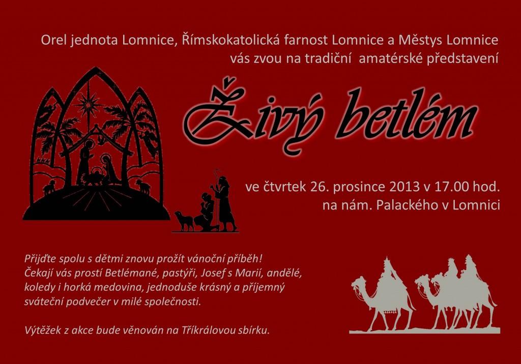 Živý betlém Lomnice 2013