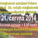 Volejbalový turnaj v Drásově 2014