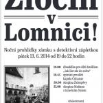 Zločin v Lomnici - Noční prohlídky zámku