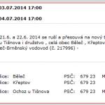 V Ochozi a v Bělči nepůjde elektřina