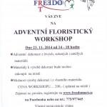 Adventní floristický workshop v Nedvědici