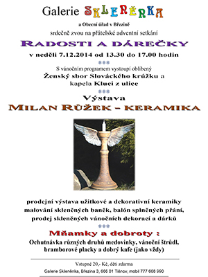 Galerie Skleněnka v Březině 2014